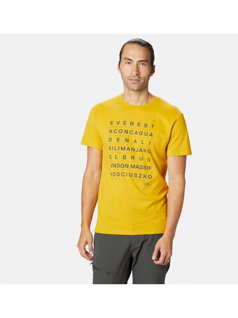 Mountain Hardwear M's Seven Summits SS T-Shirt Honey Amber